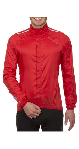 Endura Pakajak Jacket with stuff sack red